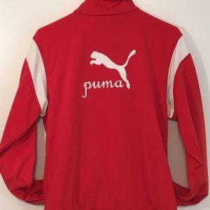 Puma Jackets   Coats - Women s Vintage Red Puma jacket d7610a485
